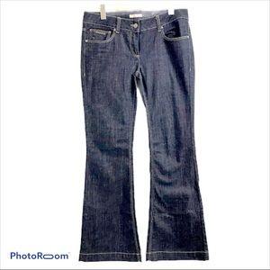 Burberry Brit Mid Rise Windsor Flare Leg Jeans